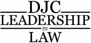 leadership in law logo for djc