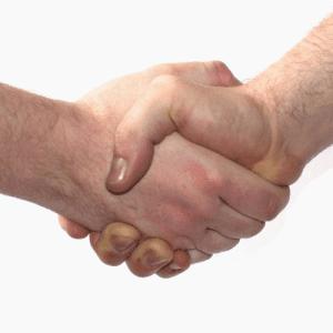Stock image of handshake.