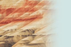 Reddish-brown sand dunes.