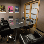 Meeting room in the SK&H Bend office.