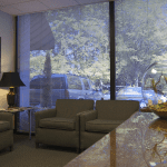 First floor lobby of SK&H Portland office.