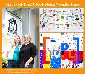 Laurel Hook, managing shareholder of Stahancyk, Kent & Hook, visits Friendly House