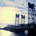 The Columbia River interstate bridge.