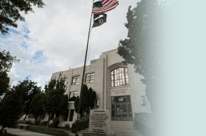 The Deschutes County Courthouse Building.