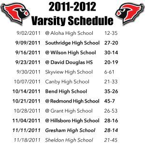 Lincoln Cardinals Varsity Schedule.