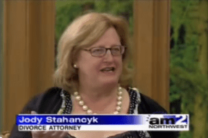 "Jody Stahancyk, President and Senior Shareholder of SKJ&H was a featured guest on KATU's AM Northwest, about the topic ""How to Avoid the Pitfalls of Divorce."" January 25, 2006 on KATU (used by permission)."