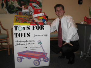 Brad Miller coordinated SKH's Toys for Tots toy drive.
