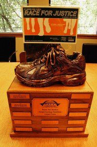 The St. Andrew Race for Justice, Largest Team, Bronze Shoe Trophy 2008.