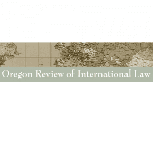 Oregon Review of International Law