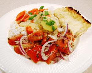 Tomato Salad - Focaccia Bread