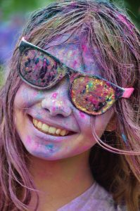 weekend, color run, portland, colorful