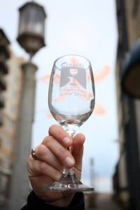 Wineglass from Seaside's Spring Downtown Wine Walk May 13, 2017