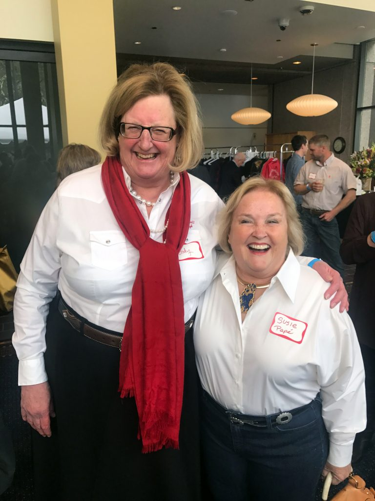 Jody Stahancyk and Susie Pape at the Oregon Historical Society Event April 27, 2017