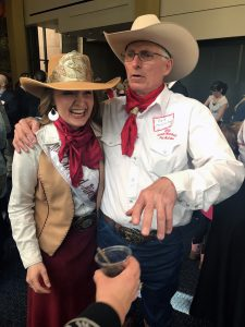 Pat McCabe with Miss Crooked River Roundup at the Oregon Historical Society Event April 27, 2017
