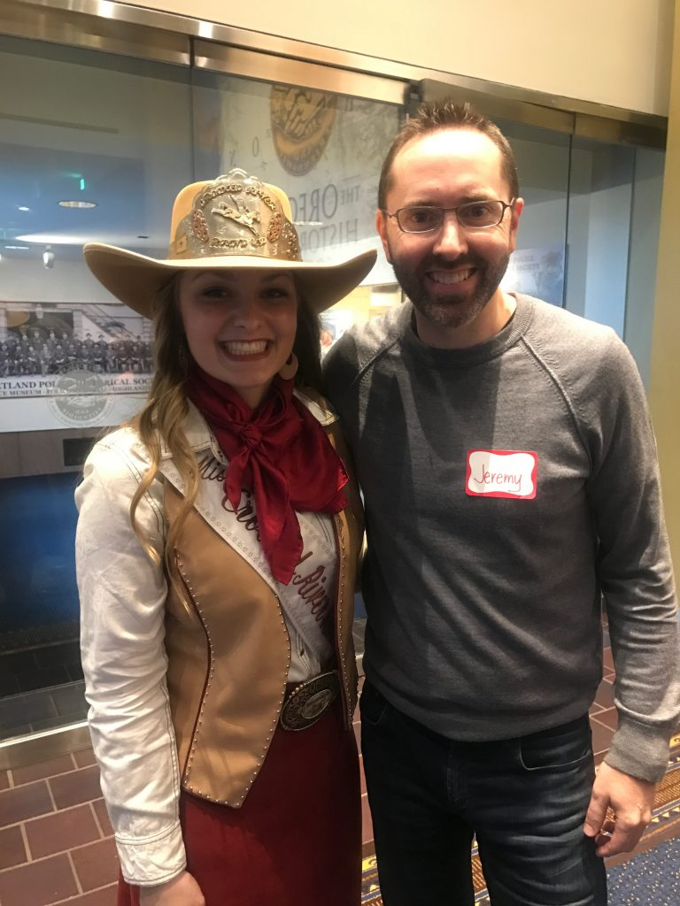 Miss Crooked River Roundup at the Oregon Historical Society Event April 27, 2017