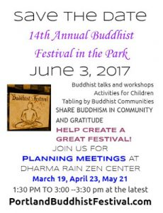 14th Annual Buddhist Festival in the Park Flyer - Stahancyk, Kent & Hook's weekend Roundup