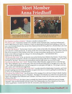 The September & October 2017University Club(UC) Newsletter featuring SKH attorney,Anna Friedhoff