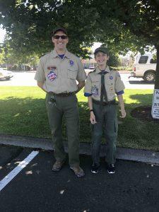 Scoutmaster Fred Schroeder