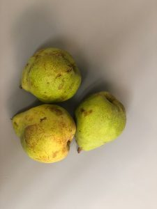3 Green Pears for Stahancyk, Kent & Hook's recipe for slow roasted pears